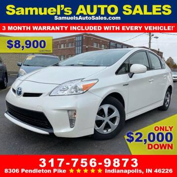 2014 Toyota Prius for sale at Samuel's Auto Sales in Indianapolis IN