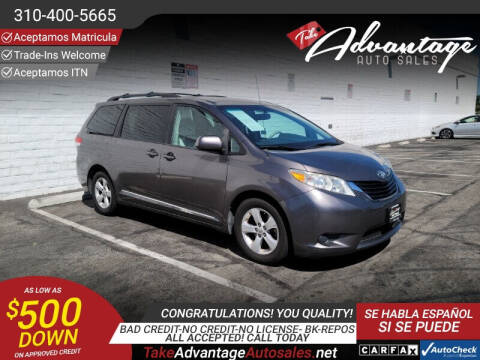 2013 Toyota Sienna for sale at ADVANTAGE AUTO SALES INC in Bell CA