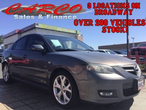 2008 Mazda MAZDA3 for sale at CARCO SALES & FINANCE in Chula Vista CA