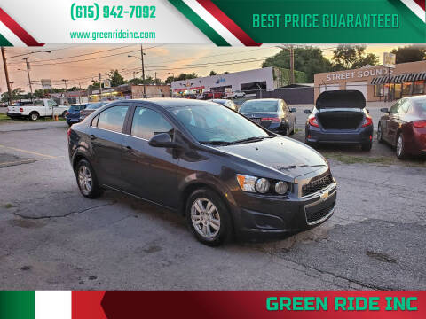 2016 Chevrolet Sonic for sale at Green Ride Inc in Nashville TN