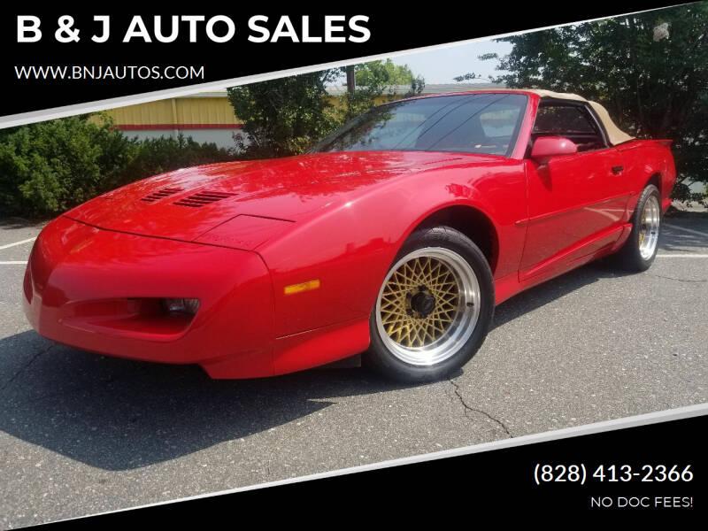 1991 Pontiac Firebird for sale at B & J AUTO SALES in Morganton NC
