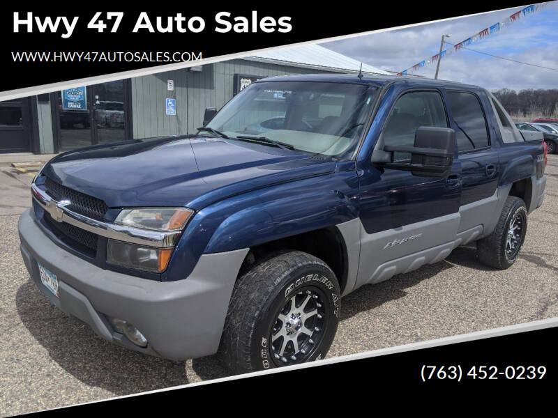 2002 Chevrolet Avalanche for sale at Hwy 47 Auto Sales in Saint Francis MN