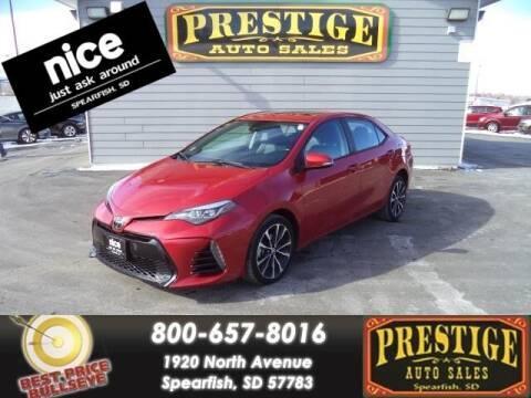2018 Toyota Corolla for sale at PRESTIGE AUTO SALES in Spearfish SD