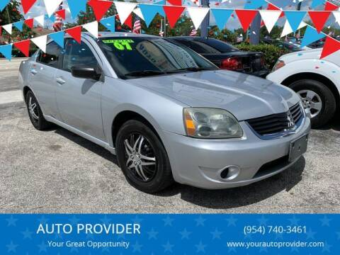 2007 Mitsubishi Galant for sale at AUTO PROVIDER in Fort Lauderdale FL