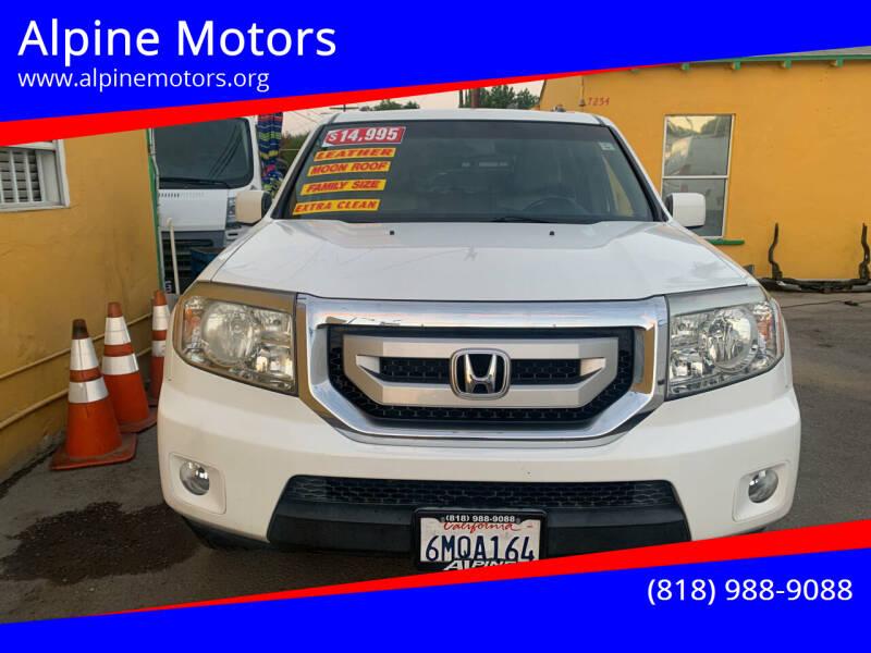 2011 Honda Pilot for sale at Alpine Motors in Van Nuys CA