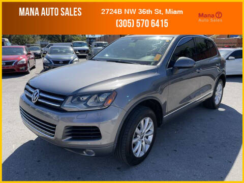2011 Volkswagen Touareg for sale at MANA AUTO SALES in Miami FL