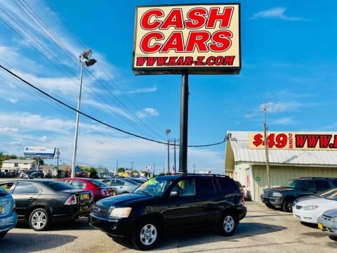 2002 Toyota Highlander for sale at www.CashKarz.com in Dallas TX