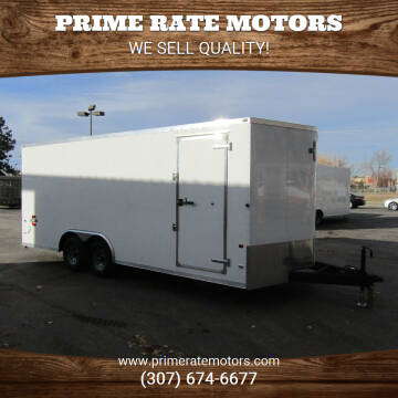 2021 CHARMAC 8FT X 20FT CARGO TRAILER for sale at PRIME RATE MOTORS in Sheridan WY
