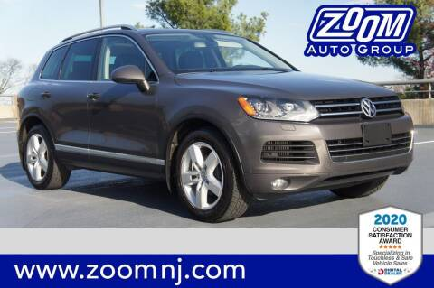 2012 Volkswagen Touareg for sale at Zoom Auto Group in Parsippany NJ