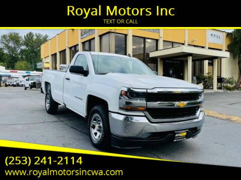 2016 Chevrolet Silverado 1500 for sale at Royal Motors Inc in Kent WA