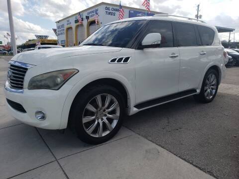 2012 Infiniti QX56 for sale at INTERNATIONAL AUTO BROKERS INC in Hollywood FL