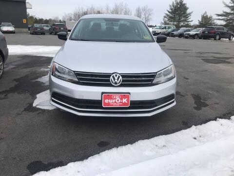 2016 Volkswagen Jetta for sale at eurO-K in Benton ME