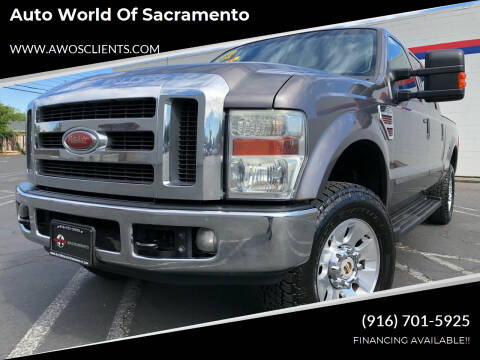 2008 Ford F-250 Super Duty for sale at Auto World of Sacramento Stockton Blvd in Sacramento CA