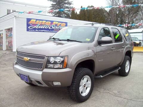 2013 Chevrolet Tahoe for sale at Auto Pro Auto Sales in Lewiston ME
