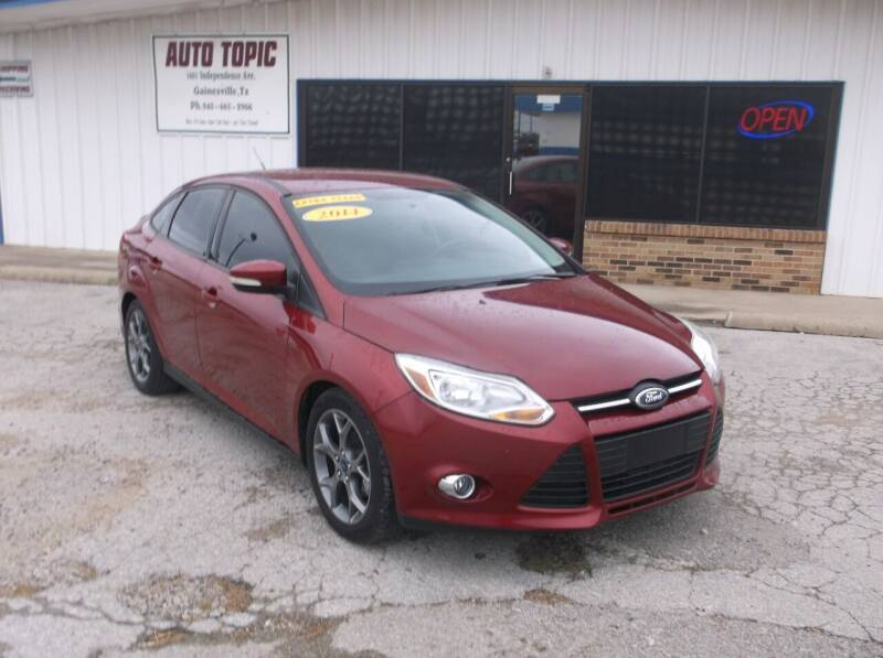 2014 Ford Focus for sale at AUTO TOPIC in Gainesville TX