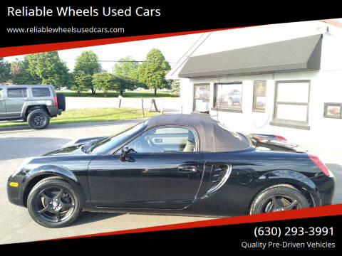 2004 Toyota MR2 Spyder for sale at Reliable Wheels Used Cars in West Chicago IL