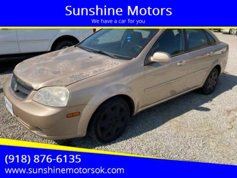 2008 Suzuki Forenza for sale at Sunshine Motors in Bartlesville OK