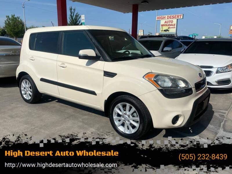 2013 Kia Soul for sale at High Desert Auto Wholesale in Albuquerque NM