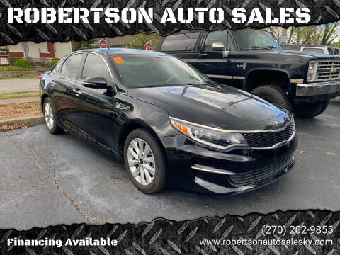 2016 Kia Optima for sale at ROBERTSON AUTO SALES in Bowling Green KY