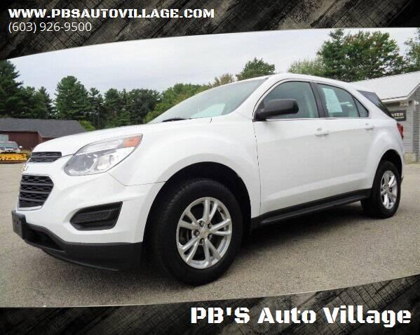 2017 Chevrolet Equinox for sale at PB'S Auto Village in Hampton Falls NH