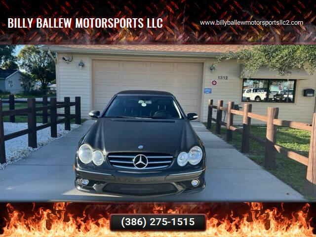 2007 Mercedes-Benz CLK for sale at Billy Ballew Motorsports LLC in Daytona Beach FL