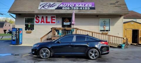 2013 Kia Optima for sale at Ritz Auto Sales, LLC in Paintsville KY