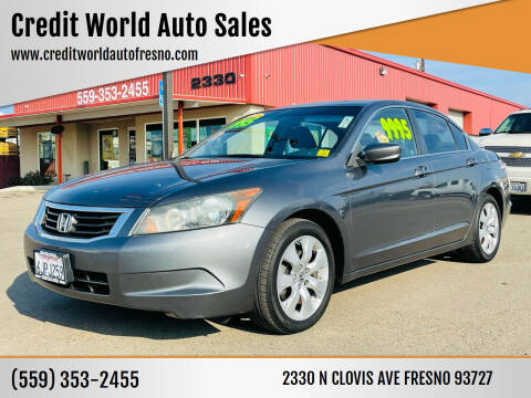 2010 Honda Accord for sale at Credit World Auto Sales in Fresno CA