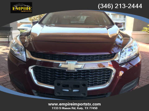 2015 Chevrolet Malibu for sale at EMPIREIMPORTSTX.COM in Katy TX