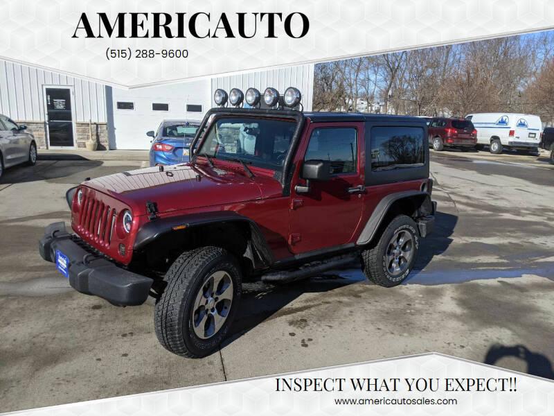 2011 Jeep Wrangler for sale at AmericAuto in Des Moines IA