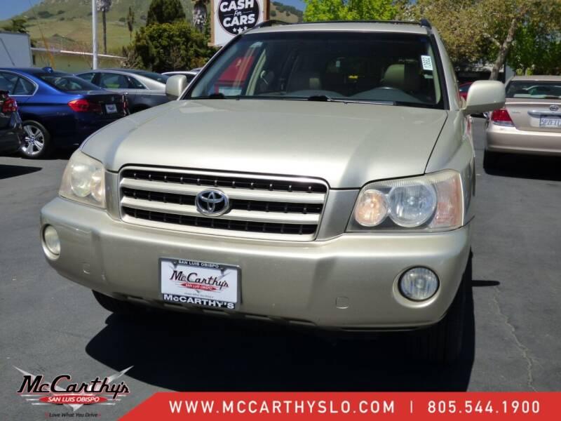 2003 Toyota Highlander for sale at McCarthy Wholesale in San Luis Obispo CA