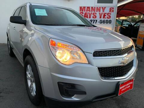 2015 Chevrolet Equinox for sale at Manny G Motors in San Antonio TX