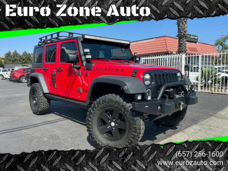 2009 Jeep Wrangler Unlimited for sale at Euro Zone Auto in Stanton CA