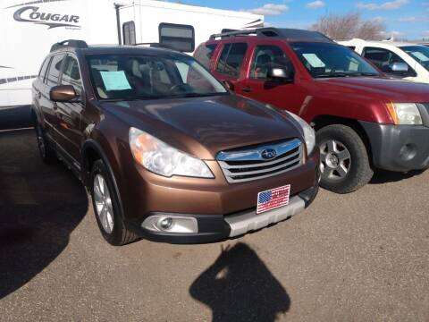 2012 Subaru Outback for sale at L & J Motors in Mandan ND