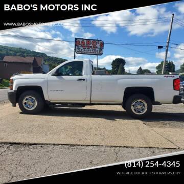 2014 Chevrolet Silverado 1500 for sale at BABO'S MOTORS INC in Johnstown PA