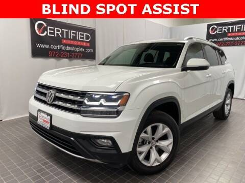2018 Volkswagen Atlas for sale at CERTIFIED AUTOPLEX INC in Dallas TX