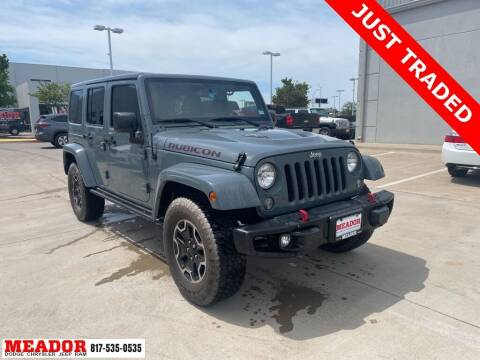 2015 Jeep Wrangler Unlimited for sale at Meador Dodge Chrysler Jeep RAM in Fort Worth TX