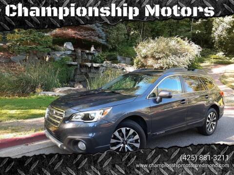2017 Subaru Outback for sale at Mudarri Motorsports - Championship Motors in Redmond WA