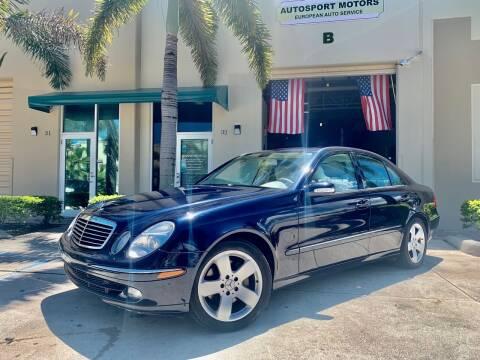 2006 Mercedes-Benz E-Class for sale at AUTOSPORT MOTORS in Lake Park FL