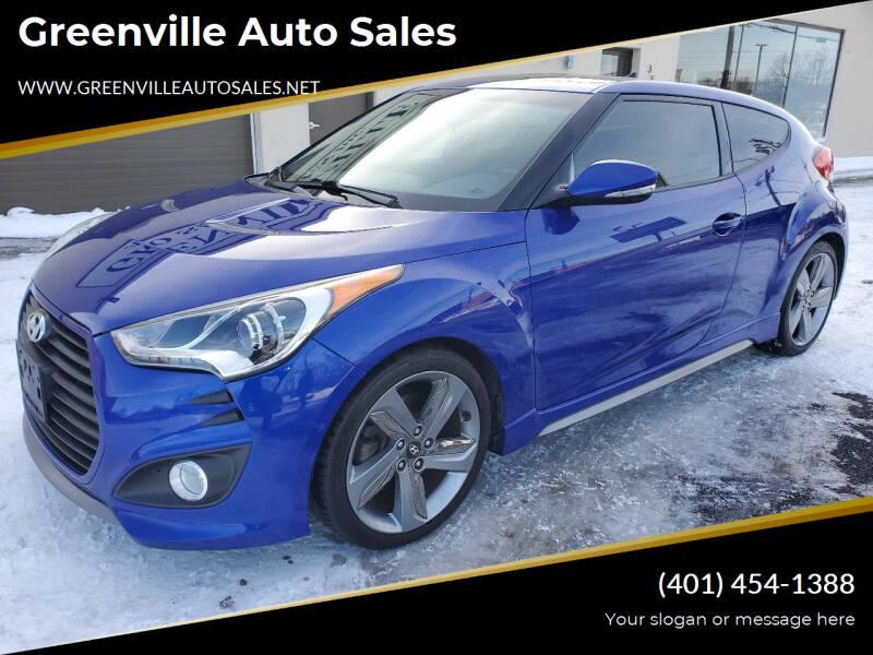 2013 Hyundai Veloster for sale at Greenville Auto Sales in Warwick RI