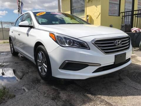 2017 Hyundai Sonata for sale at MIAMI AUTO LIQUIDATORS in Miami FL