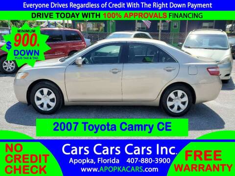 2007 Toyota Camry for sale at CARS CARS CARS INC in Apopka FL