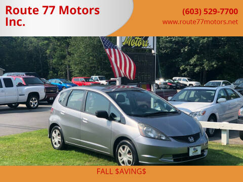 2010 Honda Fit for sale at Route 77 Motors Inc. in Weare NH