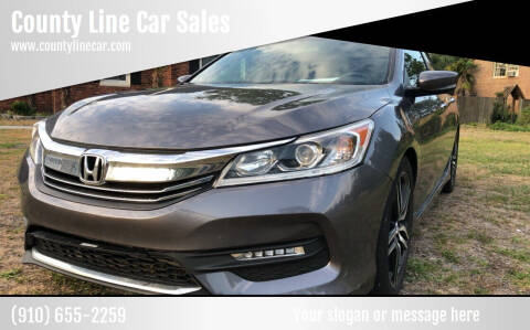2016 Honda Accord for sale at County Line Car Sales Inc. in Delco NC