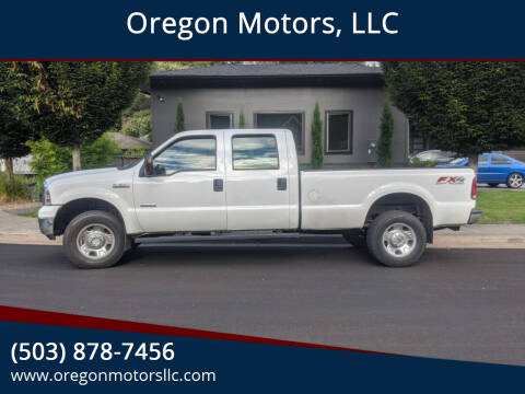 2007 Ford F-350 Super Duty for sale at Oregon Motors, LLC in Portland OR