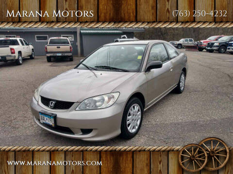 2004 Honda Civic for sale at Marana Motors in Princeton MN