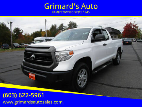 2014 Toyota Tundra for sale at Grimard's Auto in Hooksett NH