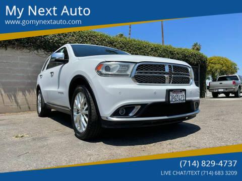 2015 Dodge Durango for sale at My Next Auto in Anaheim CA