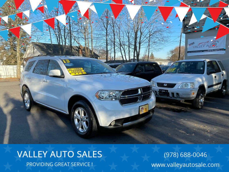 2013 Dodge Durango for sale at VALLEY AUTO SALES in Methuen MA