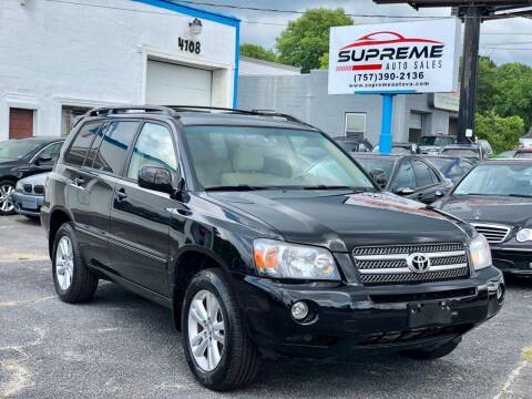 2007 Toyota Highlander Hybrid for sale at Supreme Auto Sales in Chesapeake VA