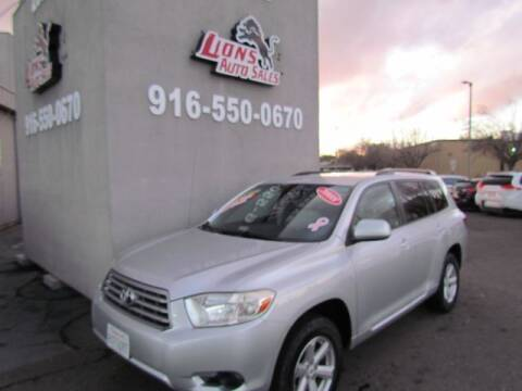 2008 Toyota Highlander for sale at LIONS AUTO SALES in Sacramento CA